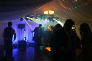 Uplighting in a Marquee